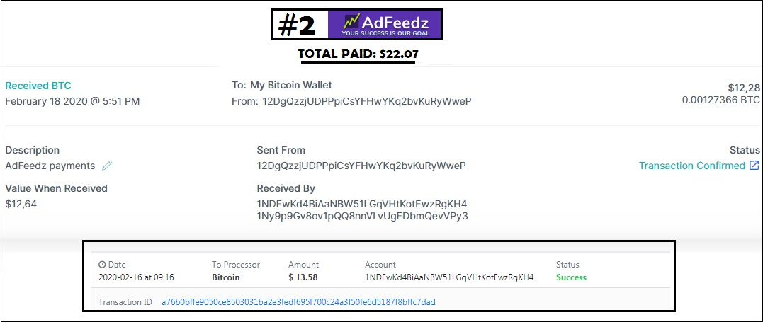 adfeedz payment