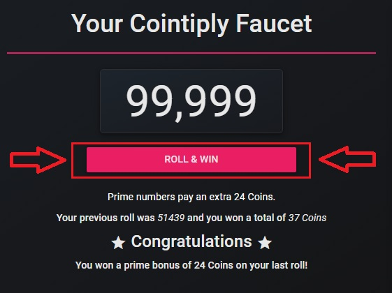 cointiply claim free bitcoin